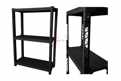 3 Tier Plastic Shelf, Code: 893-3H