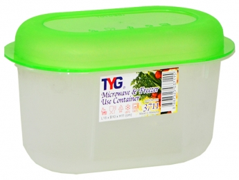 Oval Microwave Container (S), Code: 3711