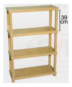 4 Tier Plastic Shelf, Code: 887-4