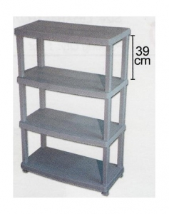 4 Tier Plastic Shelf, Code: 892-4