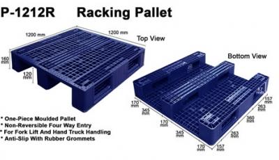 Plastic Pallet (Code: P1212-R)