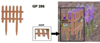 Garden Plastic Fences, Code: GP 286