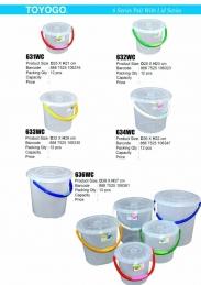 Transparent pail with lid big 2